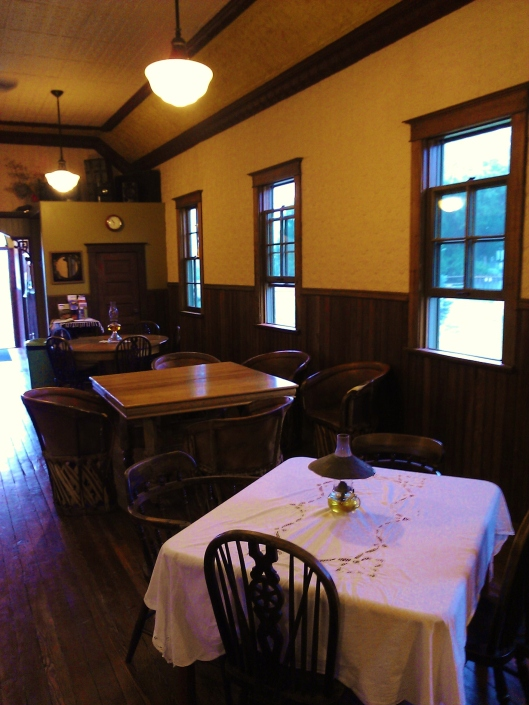 Ghost Town Blues' Dining Hall is a Restored Church.